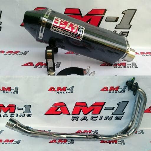 Foto Produk Knalpot Yoshimura USA Carbon Fullset Ninja 250fi 250 Karbu Abs SE dari AM1 Racing