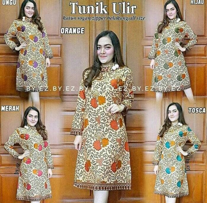 harga Tunik / dress batik mataram ulir (turtleneck) Tokopedia.com