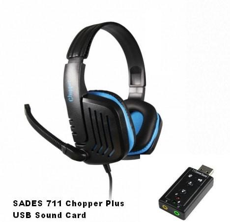 Sades SA 711 Chopper DNS Source · SADES SA 711 CHOPPER GAMING HEADSET USB SC 7 1