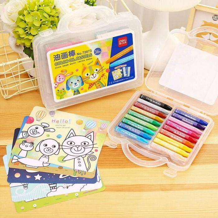 Jual Deli Crayon Oil Pastel 36 Color Kota Medan Stationery Mart