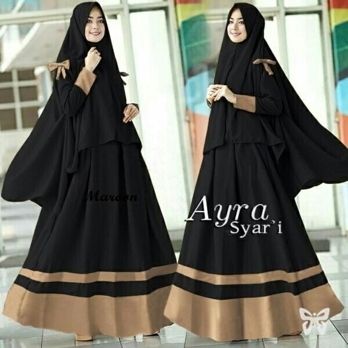 Jual Gamis Syari Hijab Syari Hitam Maxi Dress Muslim Wanita Jakarta Barat Barokah Jaya Indah Tokopedia