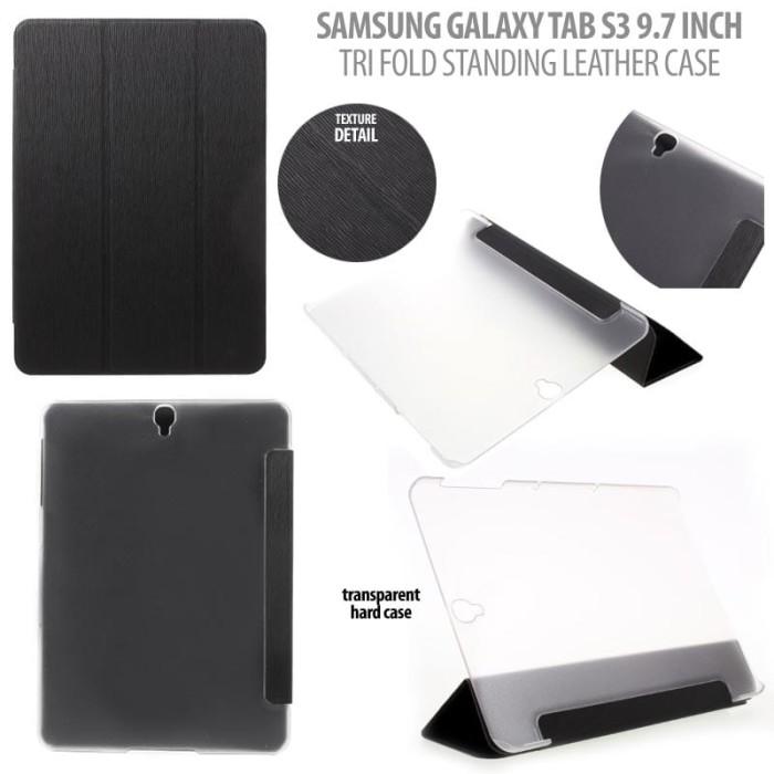 harga Samsung galaxy tab s3 9.7 inch t820 t825 - tri fold leather case Tokopedia.