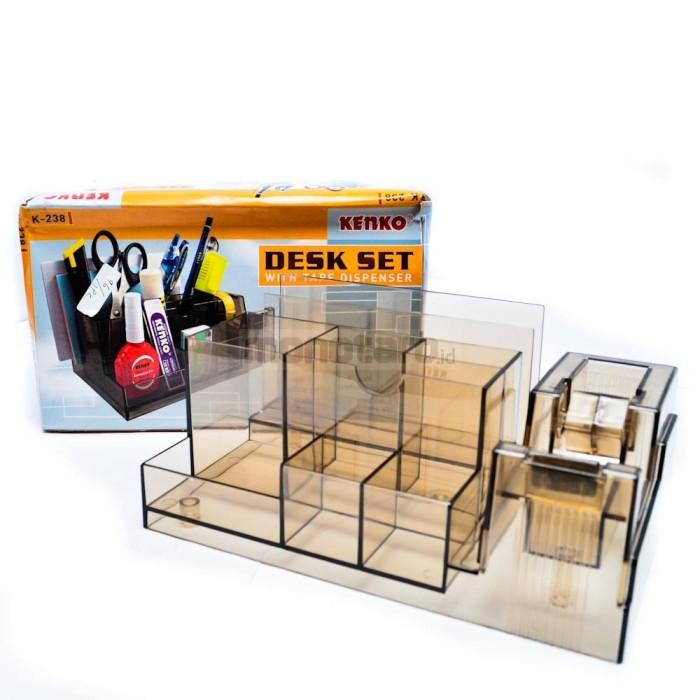 harga Desk set / tempat atk stationery & tape dispenser kenko k-238 Tokopedia.com