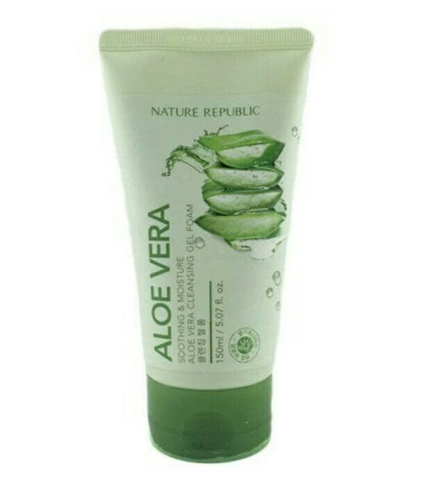 harga Nature republic soothing and moisture aloe vera cleansing gel foam Tokopedia.com