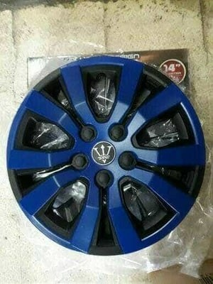 harga Dop velg mobil sigra 14 inch warna hitam kombinasi biru Tokopedia.com
