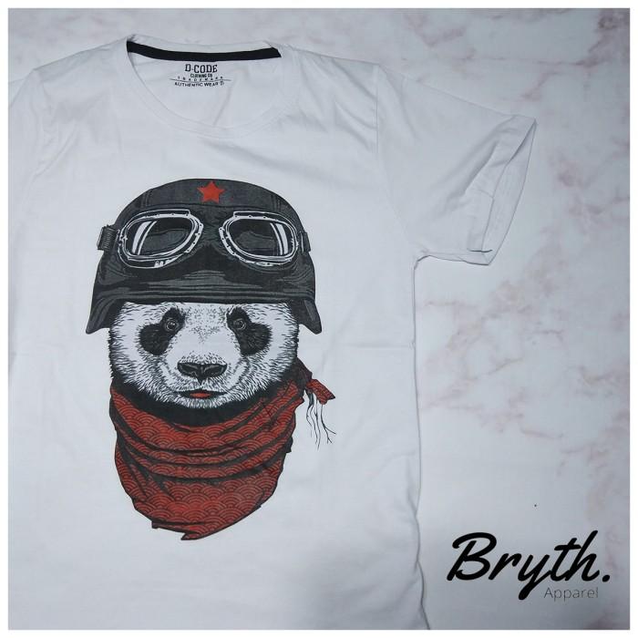 Kaos Cowo Kaos Distro Simple Printing Panda .