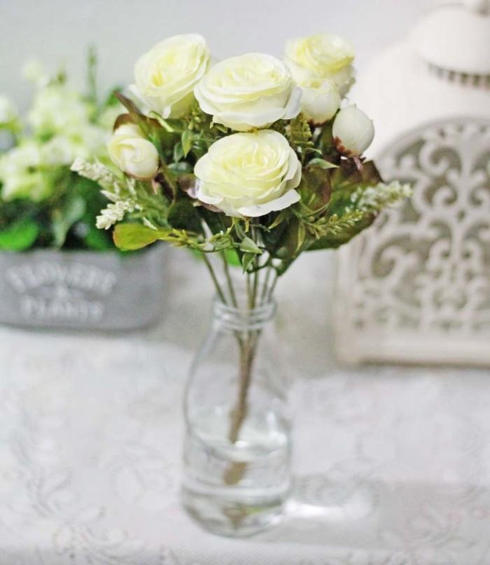 harga Bunga plastik hias artificial artifisial flower mawar rose shabby 5b  Tokopedia.com a768d41891