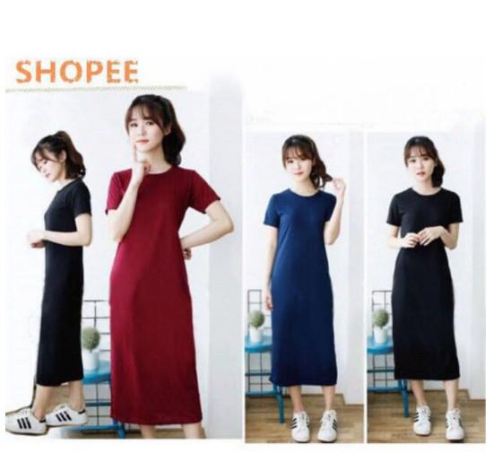harga Elsa plain maxy / maxi dress murah berkualitas Tokopedia.com