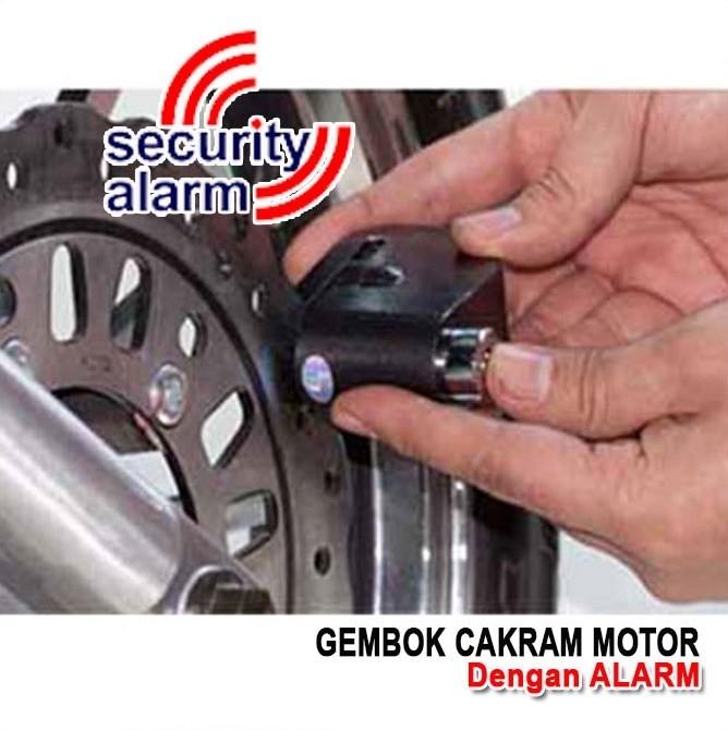 Gembok Alarm Disc Atau Cakram Motor Hitam Daftar Update Harga Source Gembok Alarm .