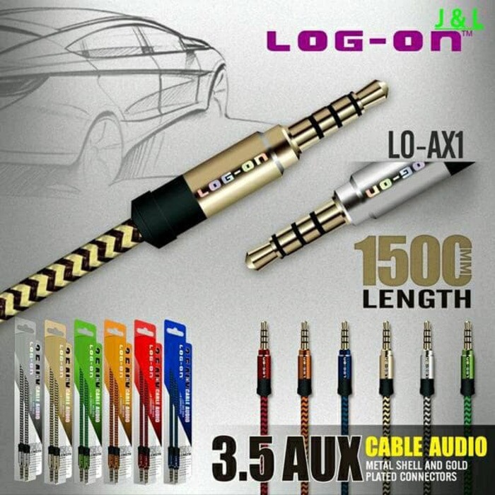 harga Kabel aux jack audio 3.5mm male headphone speaker 1.5m gold plate Tokopedia.com