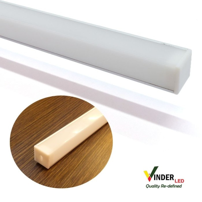 Housing Led Strip/ Led Bar model sudut dengan Square Cover