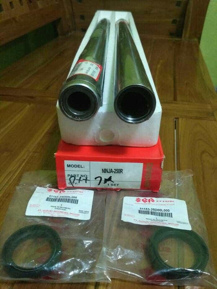 harga As shock depan ninja 250 plus seal shock Tokopedia.com