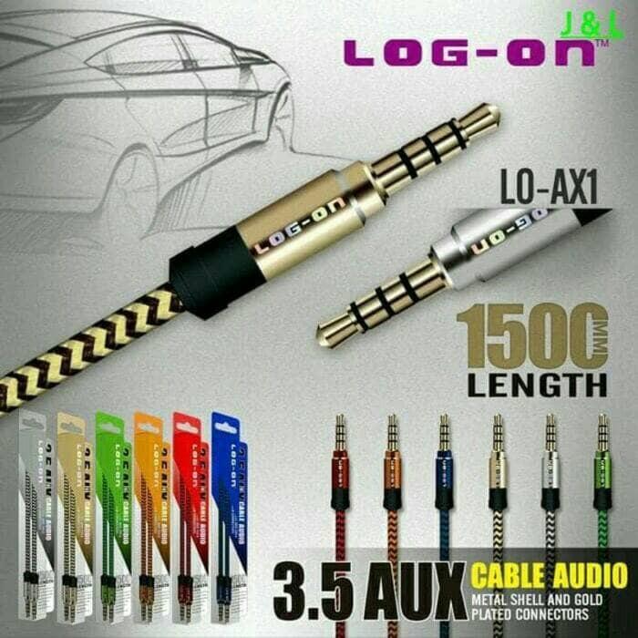 harga Kabel aux jack audio 3.5mm male headphone speaker 1.5m gold plate Tokopedia.com