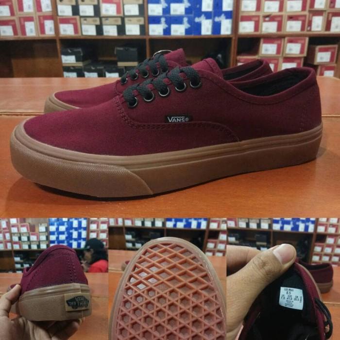 6869b9cfea ... harga Sepatu vans authentic port royale red maroon merah marun sol gum  Tokopedia.com