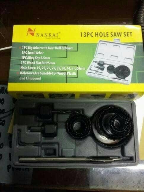 harga Hole saw kit nankai 13pcs hidroponik mata bor pelubang kayu holesaw Tokopedia.com