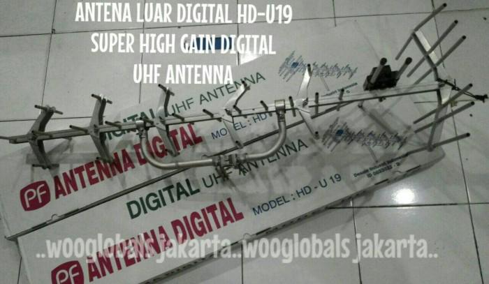Antena luar pf digital hd-u19 super high gain digital uhf antenna ori