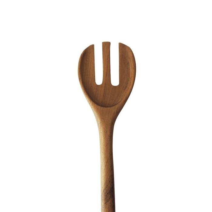 Lar   garpu spatula kayu jati alat masak makan saji dapur sayur wok