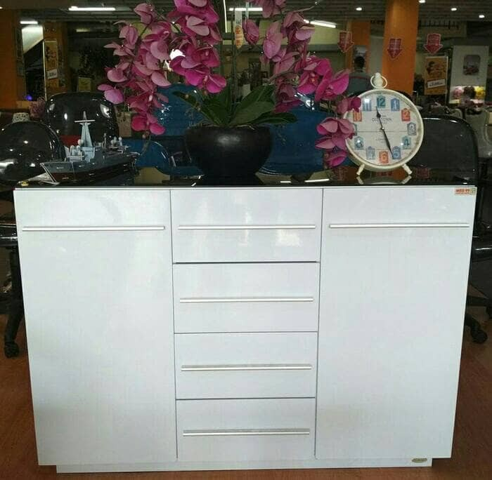 xoxo furniture. Rak Buffet Lugano Minimalist White Glossy Xoxo Furniture F