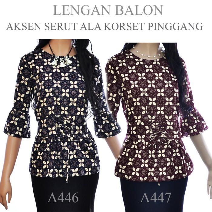 harga Grosir Termurah Y0m6 Kemeja Blouse Atasan Batik Blus A446a447 Terbaru D3o0 Blanja.com