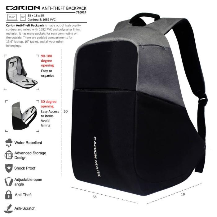 Tas Ransel Laptop / Backpack Anti Maling Pria Wanita Daypack