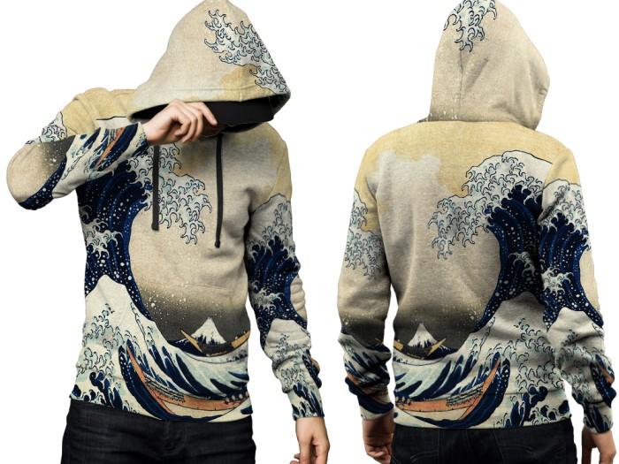 Jaket hoodie sweater pria abstract 3d fullprint pullover 001