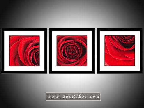harga Lukisan bunga mawar merah minimalis Tokopedia.com