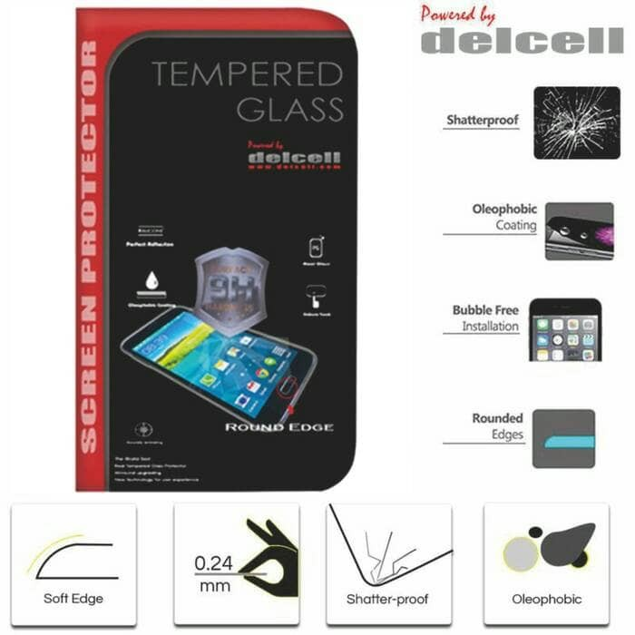 Tempered Glass Bening Delcell Meizu M2 Note Screen Guard Protector .