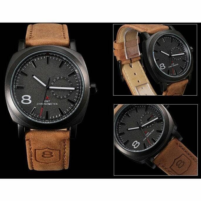 harga Gurren jam tangan pria strap kulit Tokopedia.com