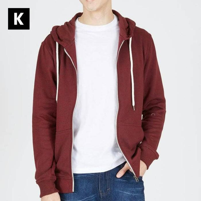 harga Jaket hoodie pria 3 second men 23 polos maroon Tokopedia.com