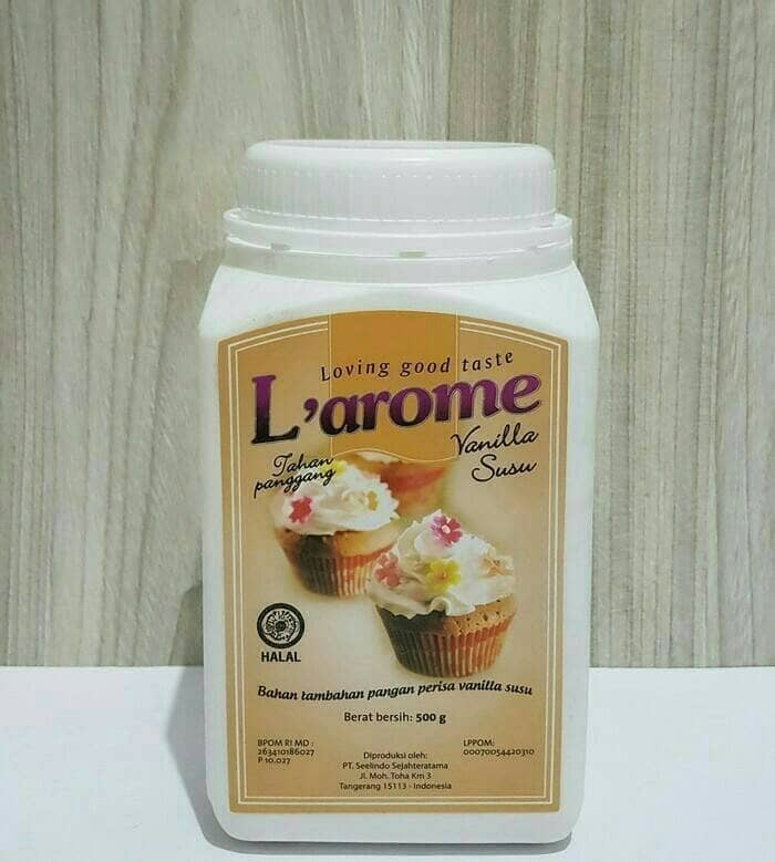 harga Perisa Bubuk Merk Larome Dengan Aroma Vanilla Susu 100gram Tokopedia.com