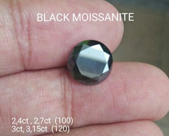 harga Diamond hitam moissanite 3 & 315ct 9mm black Tokopedia.com
