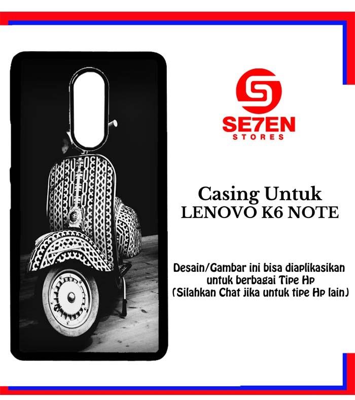 harga Casing lenovo k6 note vespa custom hard case cover Tokopedia.com