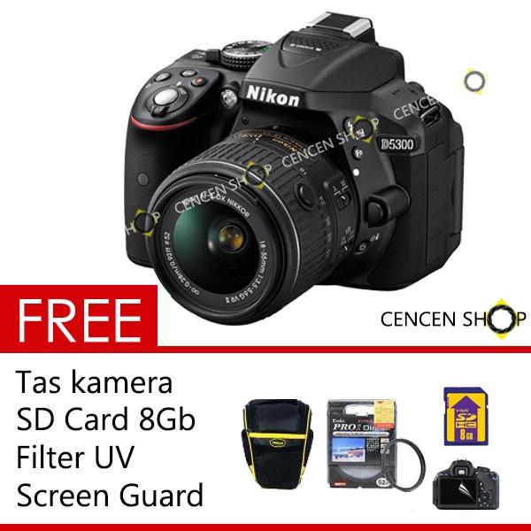 harga Free++| nikon d5300 18-55mm vr lens 24.2mp dslr slr nikon d 5300 Tokopedia.com