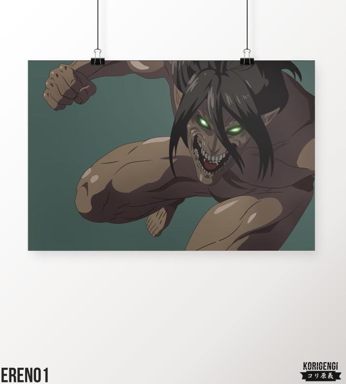 Foto Produk Poster Eren Titan Form A3+ dari KORIGENGI Store