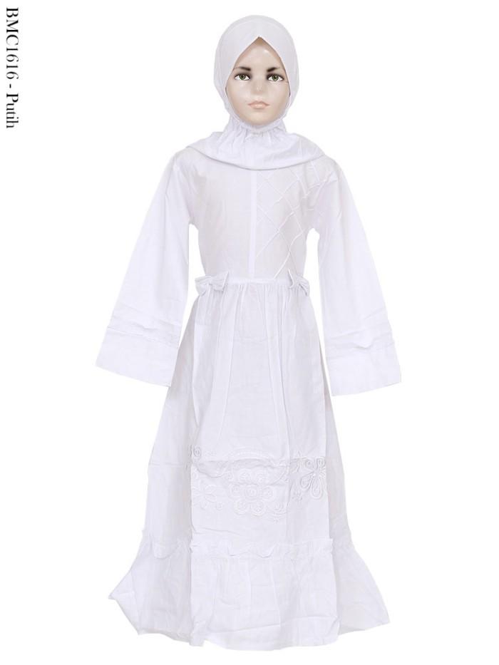 Jual Baju Muslim Gamis Katun Anak Perempuan Warna Putih Bordir Grosir Murah Kota Depok Hananisa Shop Tokopedia