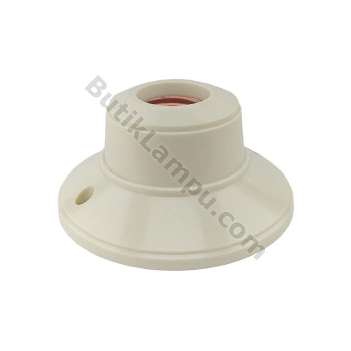 Foto Produk Fitting Plafon Bulat Broco 1212 Fitting Lampu Plapon Cream dari butiklampu
