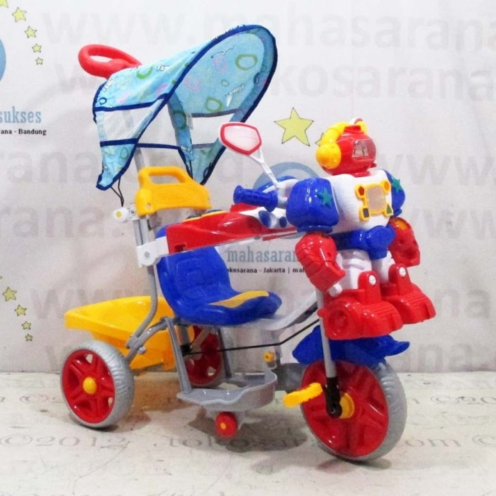 harga Family f853ft musik dobel robot+car melody sepeda roda tiga ban jumbo Tokopedia.com