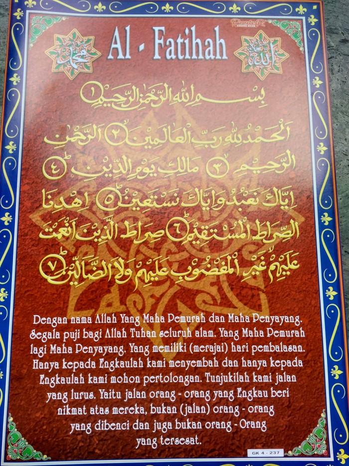 Jual Poster Surat Al Fatihah Dan Terjemahan Nya Kota Bekasi Ondom Store Tokopedia