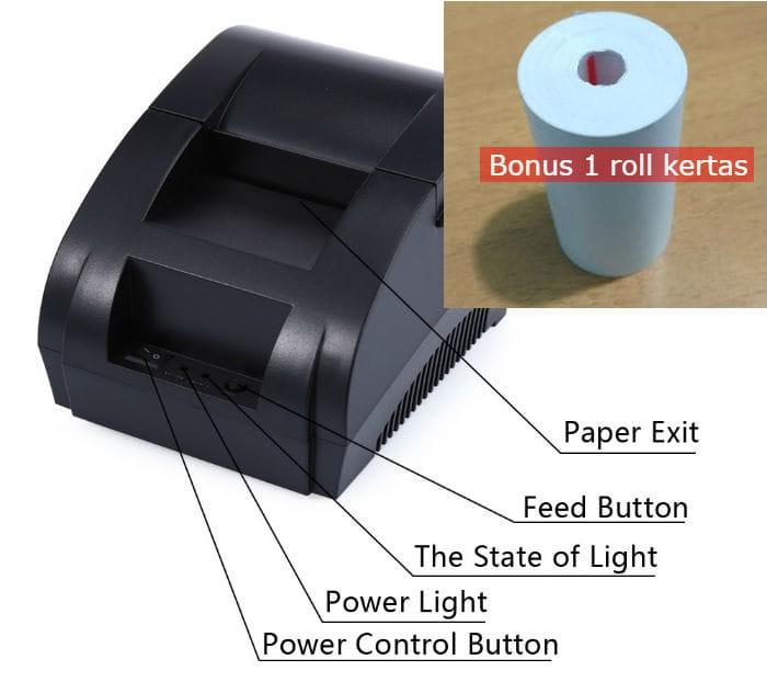 harga Thermal printer taffware pos receipt 57.5mm - zj-5890k zjiang Tokopedia.com