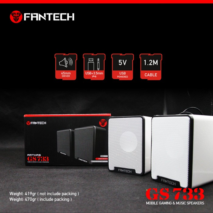 harga Speaker laptop fantech arthas gs-733 gaming speaker Tokopedia.com