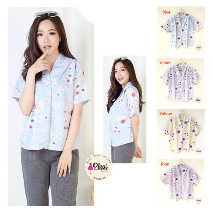 Flavia Store Dress Lengan Pendek Pundak Bolong Salur FS0083 HITAM PUTIH Gaun Bahu Sabrina Source Mama