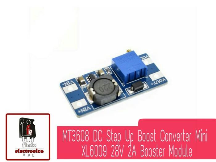 Foto Produk MT3608 DC Step Up Boost Converter Mini XL6009 28V 2A Booster Module dari findoelectronics