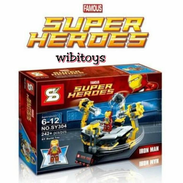 harga Lego super hero ironman lab sy 304 avengers iron man Tokopedia.com