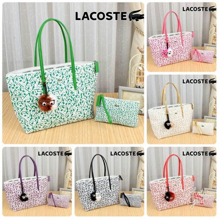 Jual Lacoste ZipZap Shopping Tote Bag Like Ori 0801 TAS WANITA TAS ... 6d31939849