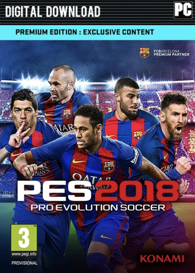 harga Premium edition pes 2018 / pro evolution soccer 2018 (original key) Tokopedia.com
