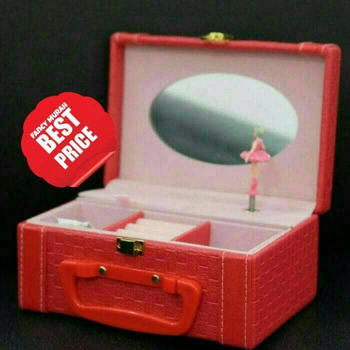 harga (best price) kotak musik music box tas koper kulit cermin balerina Tokopedia.com
