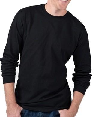 Kaos baju oblong polos  lengan tangan  panjang xl 100% cotton combed