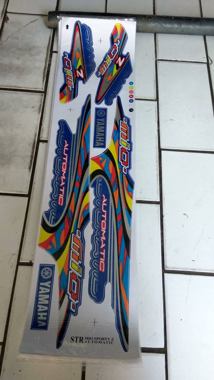 Jual Striping Sticker STR MIO Sporty Z Thailook Kab Bangkalan G Sticker