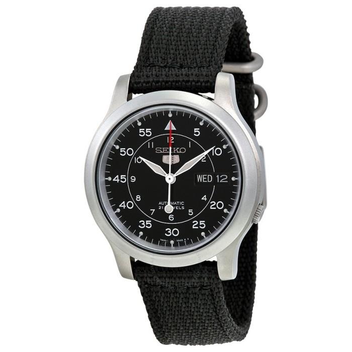harga Jam tangan seiko 5 snk809k2 tali bahan kanvas hitam automatic original Tokopedia.com