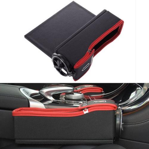 harga 1pc car seat passenger side catcher gap filler storage box cup holder Tokopedia.com